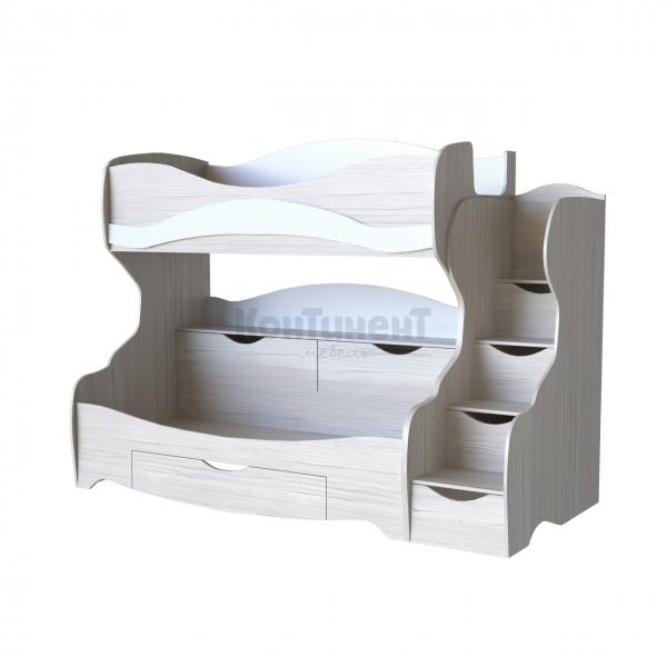 Кровать двухъярусная КА-03 Л/КА-03 П (спальное место 800*1900)