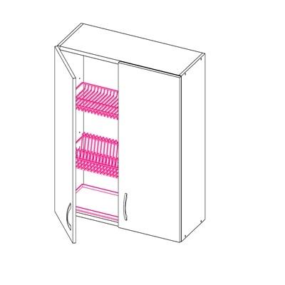 Шкаф под сушку с 2-мя дверьми
