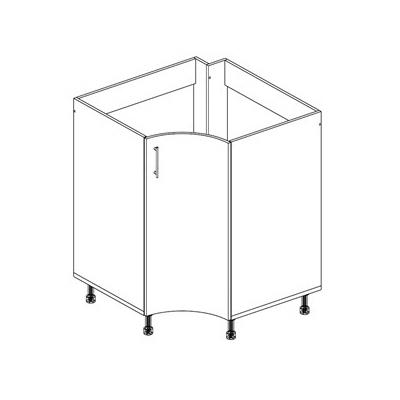 Стол под мойку угловой радиусный с 1-ой дверью НМ
